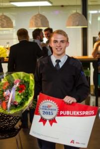 winnaar publieksprijs Olger Jonker