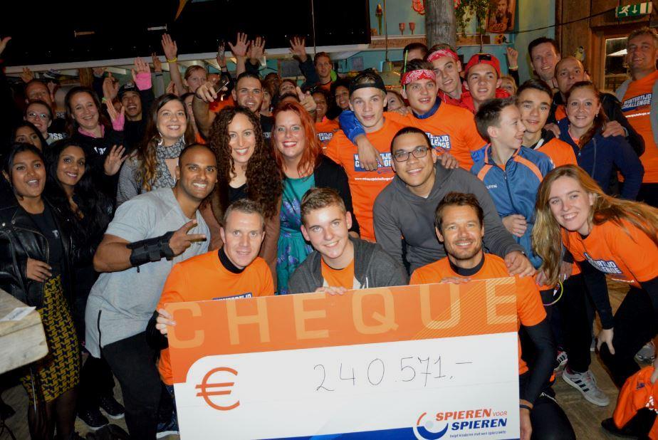 Reinder Nummerdor maakt voorlopig eindbedrag Wintertijd Challenge Spieren voor Spieren bekend € 240.571