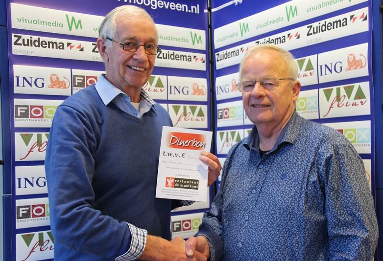 Links Jan Blaauw en rechts Albert Stegeman.