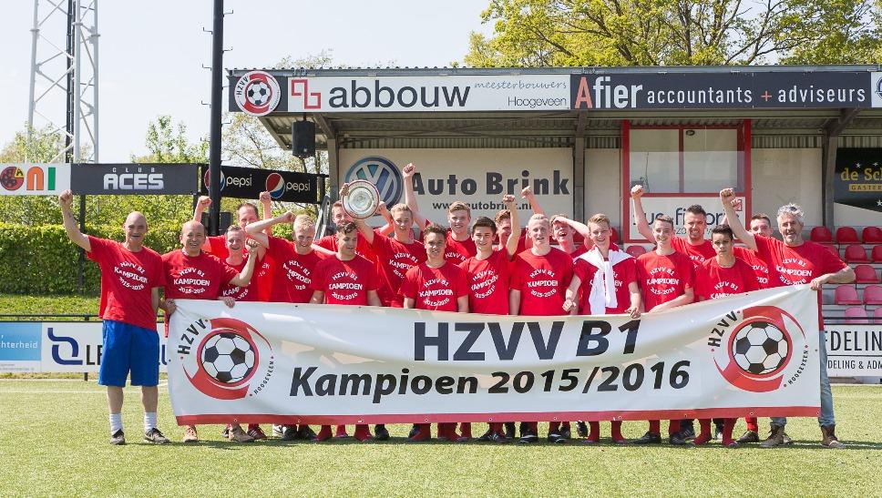 HZVV B1 is kampioen.